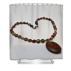3600 Picasso Jasper Necklace Shower Curtain by Teresa Mucha