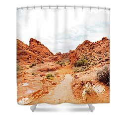 Valley Of Fire State Park Panorama Shower Curtain by Daniel Shumny