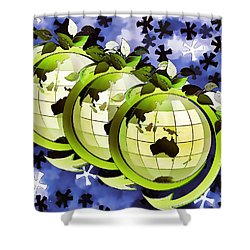 3d Render Of Planet Earth 16 Shower Curtain by Lanjee Chee