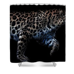 Amur Leopard Shower Curtain by Martin Newman