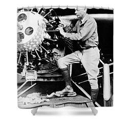 Charles Lindbergh Shower Curtain by American School