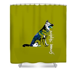 German Sheperd Collection Shower Curtain by Marvin Blaine