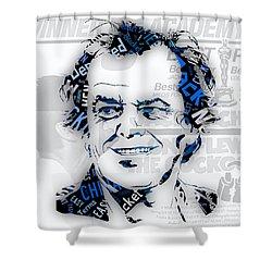 Jack Nicholson Movie Titles Shower Curtain by Marvin Blaine