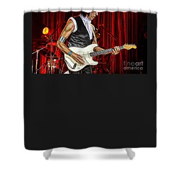 Jeff Beck Collection Shower Curtain by Marvin Blaine