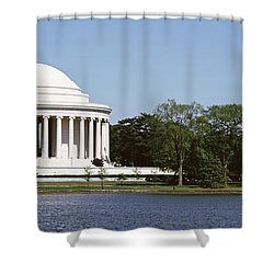 Jefferson Memorial, Washington Dc Shower Curtain by Panoramic Images