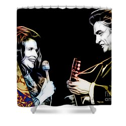 June Carter And Johnny Cash Collection Shower Curtain by Marvin Blaine