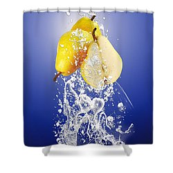 Pear Splash Collection Shower Curtain by Marvin Blaine