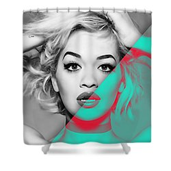 Rita Ora Collection Shower Curtain by Marvin Blaine