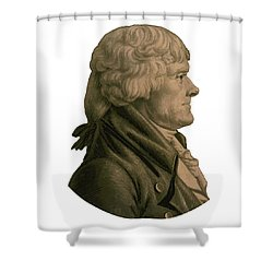 Thomas Jefferson Shower Curtain by War Is Hell Store