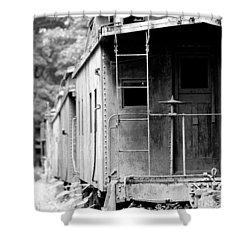 Train Shower Curtain by Sebastian Musial