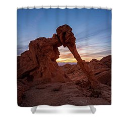 Valley Of Fire S.p. Shower Curtain by Jon Manjeot
