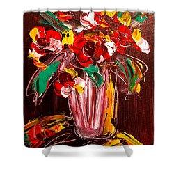 Flowers Shower Curtain by Mark Kazav