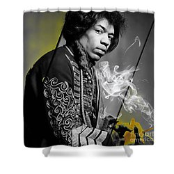 Jimi Hendrix Collection Shower Curtain by Marvin Blaine