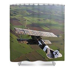 Fokker D.vii World War I Replica Shower Curtain by Daniel Karlsson