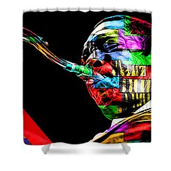 John Coltrane Collection Shower Curtain by Marvin Blaine