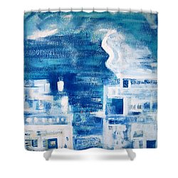 Les Deux Balcons Shower Curtain by Contemporary Luxury Fine Art