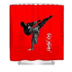 Martial Arts Collection Shower Curtain by Marvin Blaine