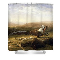 The Last Of The Buffalo  Shower Curtain by MotionAge Designs