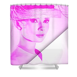 Audrey Hepburn Collection Shower Curtain by Marvin Blaine