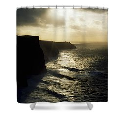 Cliffs Of Moher, Co Clare, Ireland Shower Curtain by The Irish Image Collection