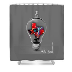 Dallas Texas Map Collection Shower Curtain by Marvin Blaine