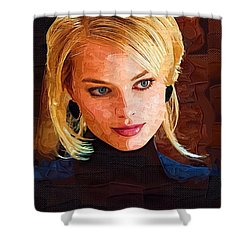 Margot Robbie Painting Shower Curtain by Best Actors