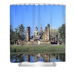 Wat Mahathat Shower Curtain by Gloria & Richard Maschmeyer - Printscapes