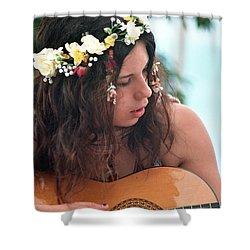 60's Flower Girl Shower Curtain by Ilan Rosen
