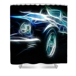 69 Mustang Mach 1 Fantasy Car Shower Curtain by Paul Ward