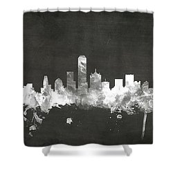 Dallas Texas Skyline Shower Curtain by Michael Tompsett