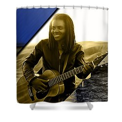 Tracy Chapman Collection Shower Curtain by Marvin Blaine