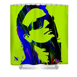 Bono Collection Shower Curtain by Marvin Blaine