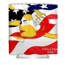 Hillary Clinton 2016 Collection Shower Curtain by Marvin Blaine