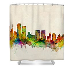 Sydney Australia Skyline Shower Curtain by Michael Tompsett