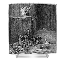 Dante: Inferno Shower Curtain by Granger