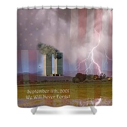 911 We Will Never Forget Shower Curtain by James BO  Insogna