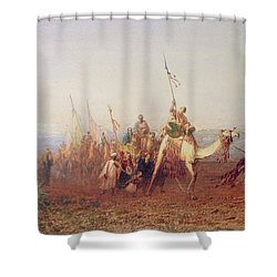 A Caravan On The Way To Cairo Shower Curtain by Felix Ziem