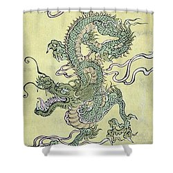A Chinese Dragon Shower Curtain by Chinese School