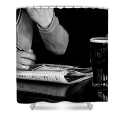 A Day At The Races Shower Curtain by Dawn OConnor