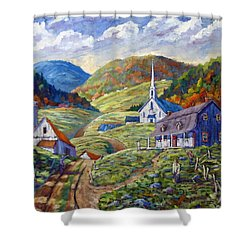 A Day In Our Valley Shower Curtain by Richard T Pranke