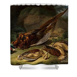 A Dead Pheasant Shower Curtain by MotionAge Designs