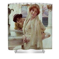 A Difference Of Opinion Shower Curtain by Sir Lawrence Alma-Tadema