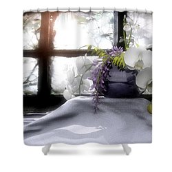 A Dream Of Orchids Shower Curtain by Cynthia Decker