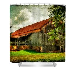 A Farm-picture Shower Curtain by Lois Bryan