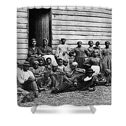 A Group Of Slaves Shower Curtain by Photo Researchers