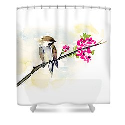 A Little Bother Shower Curtain by Amy Kirkpatrick
