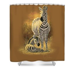 A New Day Shower Curtain by Lucie Bilodeau