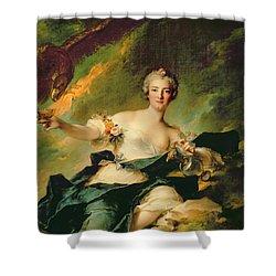 A Portrait Of Anne Josephe Bonnnier De La Mossau  Shower Curtain by Jean Marc Nattier