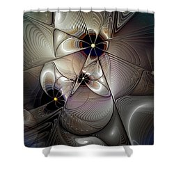 A Question Of Balance Shower Curtain by Casey Kotas