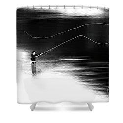 A River Runs Through It Shower Curtain by Hannes Cmarits
